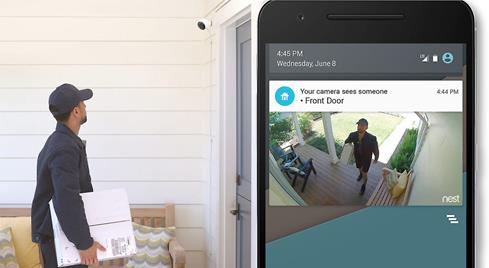 Download the free Nest app so you can check the view from the Nest Cam Outdoor anywhere, any time.