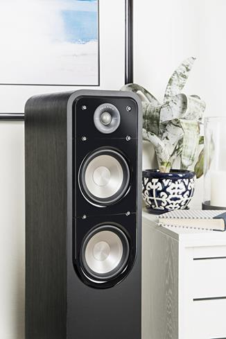 polk audio signature s55 black floor standing speaker at rh crutchfield com