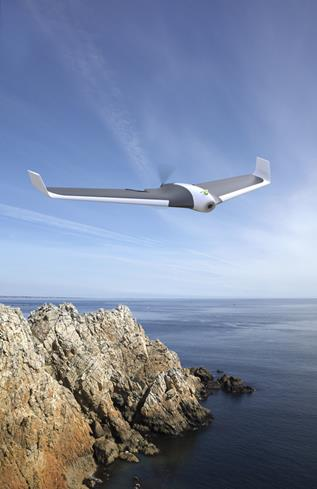 Experience the joy of flight with the fast, maneuverable Parrot Disco fixed-wing drone.