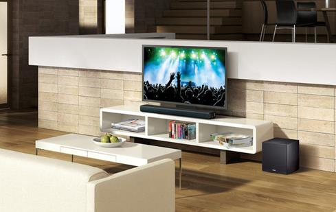The Yamaha YAS-706 sound bar