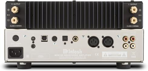 Back of the McIntosh MHA150 headphone amp