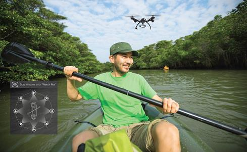 Put the drone in Watch Me mode to get smooth, hands-free footage of your adventure.