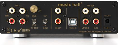 The Music Hall PA2.2 is a phono preamp, a headphone amp, and an analog to digital converter all in one.