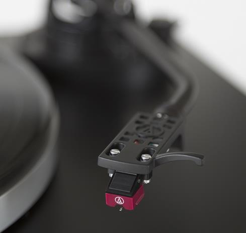 The Audio-Technica AT-LP5 features a classic, reliable J-shaped tonearm.