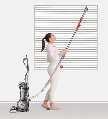 The Dyson Big Ball Animal + Allergy vacuum sucks up allergens wherever they hide.