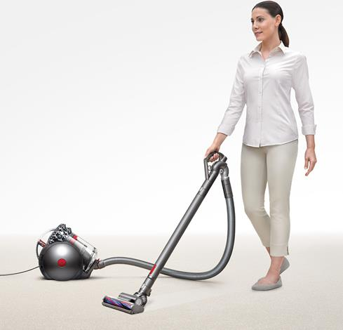 The Dyson Big Ball Animal's ball-shaped canister maneuvers easily through cleaning tasks.