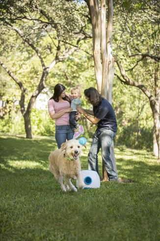 iFetch Too keeps your pup active and happy so everyone enjoys family time.