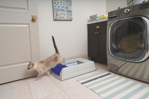 The ScoopFree self-cleaning litter box eliminates the mess and odor of living with cats.