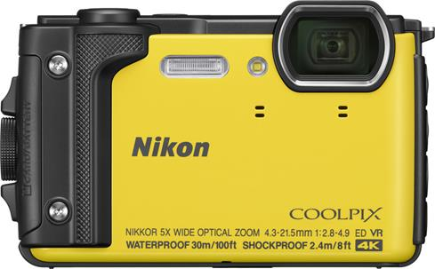 The rugged Nikon Coolpix W300 takes sharp photos and Ultra HD videos.