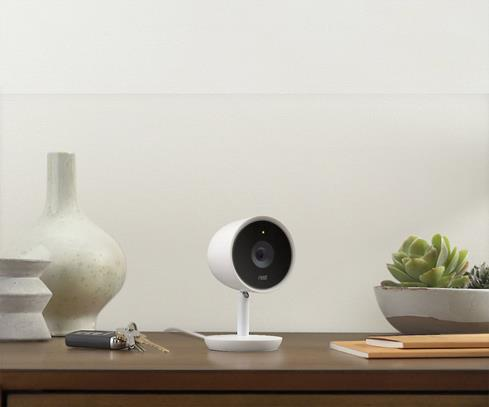 The Nest Cam IQ Indoor camera lets you make sure loved ones are safe even when you're not at home.