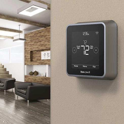 The Honeywell Lyric T5 features a motion-activated touchscreen.