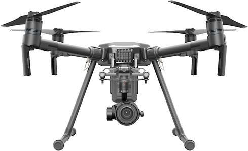 The DJI Matrice 200 has a durable, weather-resistant chassis designed for heavy commercial use.