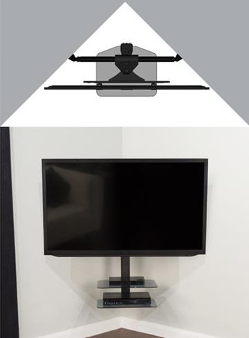 AVF ZSL5502: Cornermount All-in-One Corner TV Mounting Solution