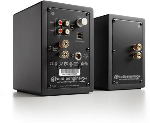 Included Audioengine A2+ speakers have multiple inputs and outputs, so you can make the necessary connections