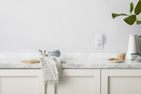 Need strong Wi-Fi in the kitchen? Plug in an eero beacon to extend your network.