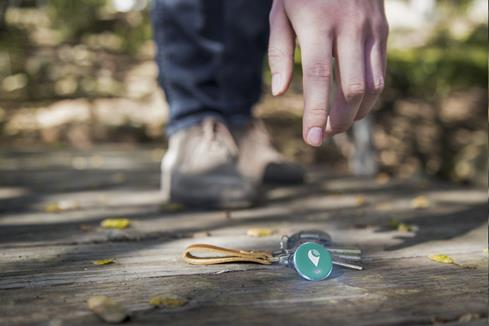 The TrackR pixel lights up and rings loudly, so you can dig a lost item out of its hiding place