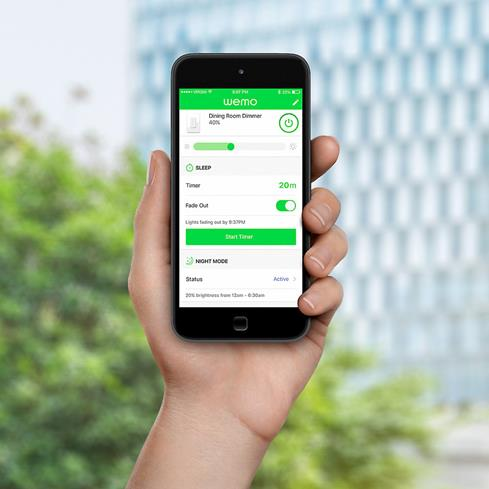 The free Wemo app lets you set up a convenient lighting schedule.