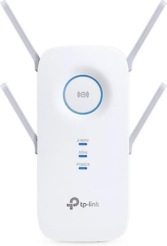 The TP-Link RE650 features four external antennas with beamforming to help make multiple, strong Wi-Fi connections.