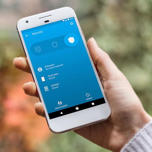 The Nest app gives you control over the Nest Secure Alarm and sends alerts to your smartphone.