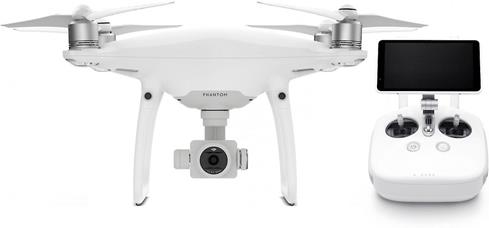 "The DJI Phantom 4 Pro+ comes with an upgraded controller with a built-in 5-1/2"" touchscreen."