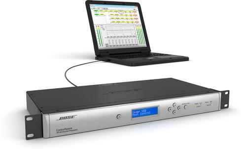 Connect your computer via the rear USB on the ControlSpace® SP-24 for detailed control over settings and equalization.