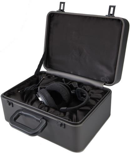 Audio-Technica ATH-ADX5000 headphones inside the leather case