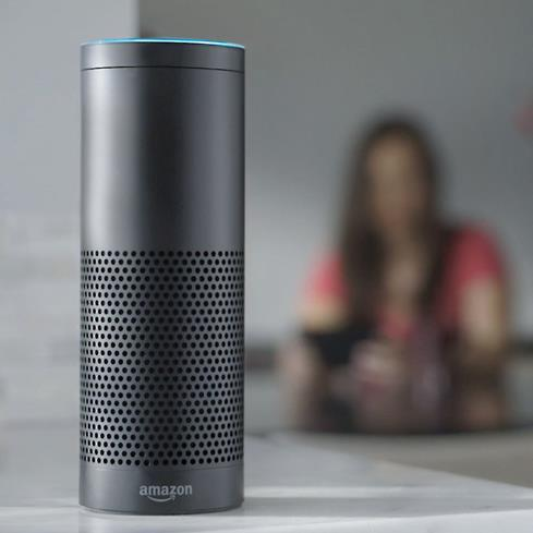 Seven built-in microphones pick up voice commands from across the room.