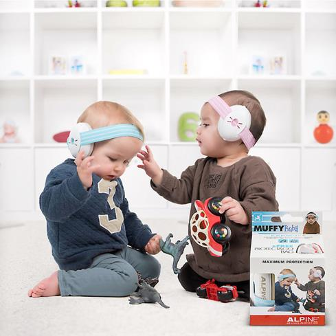 Babies wearing Muffy Baby earmuffs