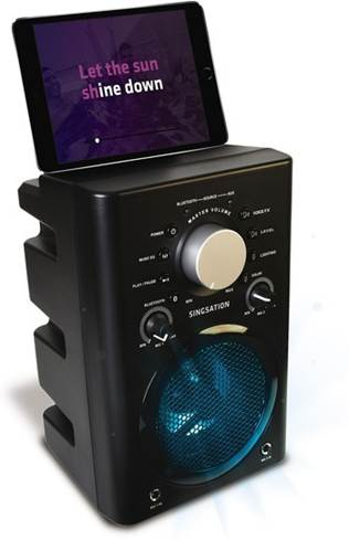 The Singsation Classic system with tablet