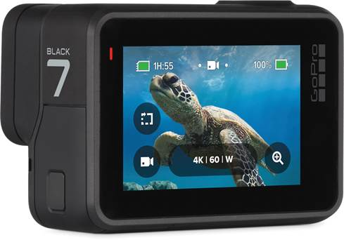 GoPro HERO7 Black with touchscreen