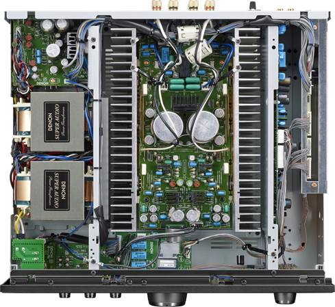 Inside the chassis of a Denon PMA-1600NE