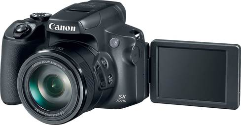 3-inch vari-angle LCD screen on the Canon PowerShot SX70 HS