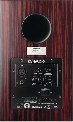 Dynaudio Excite X14A back panel
