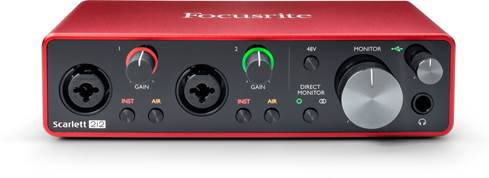 Focusrite Scarlett 2i2 computer audio interface