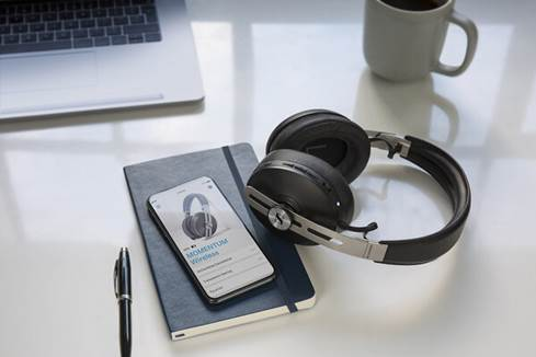 Sennheiser Momentum 3 headphones with phone app