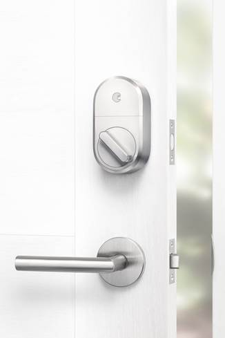 August Smart Lock in satin nickel