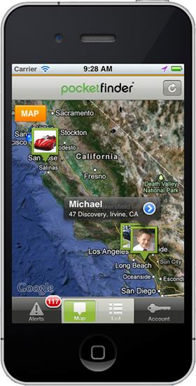 Keep track of the ones you love with the PocketFinder Locator