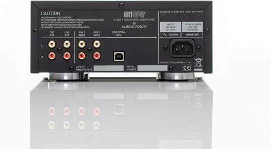 Musical Fidelity M1HPAP back panel