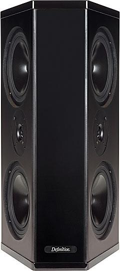 definitive surround speakers. grille off image definitive surround speakers
