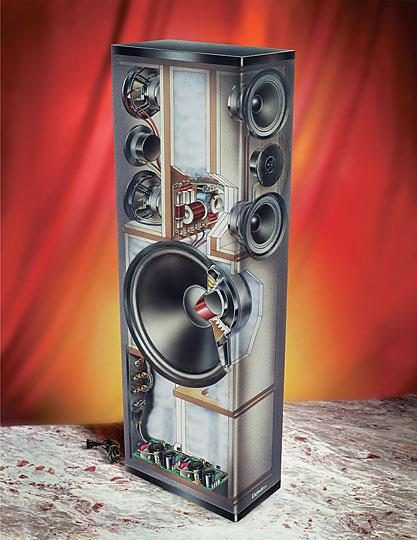 Definitive technology bp7006 bipolar floor standing speakers with built in powered subwoofers at