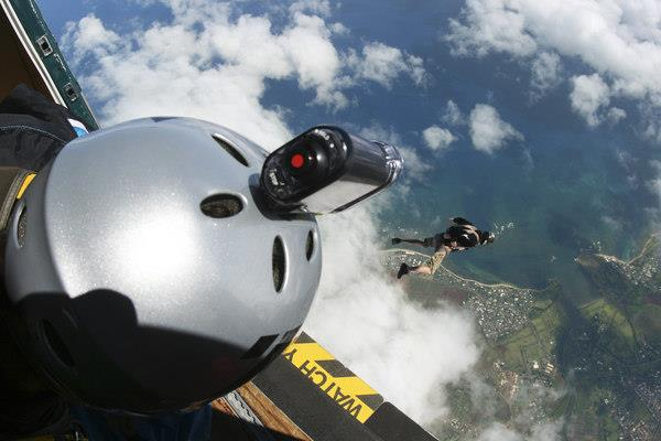 Action camcorders go skydiving