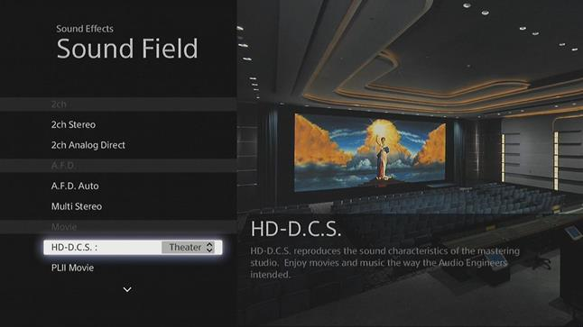 Sony's HD-Digital Cinema Sound