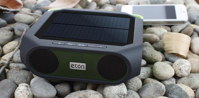 Eton Rugged Rukus Bluetooth Solar Ed Portable Speaker