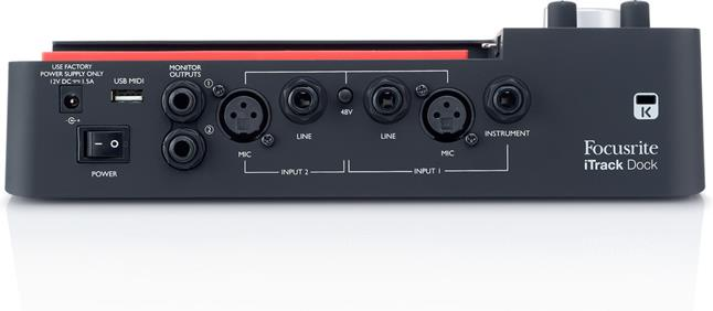 Focusrite iTrack Dock recording interface for iPad