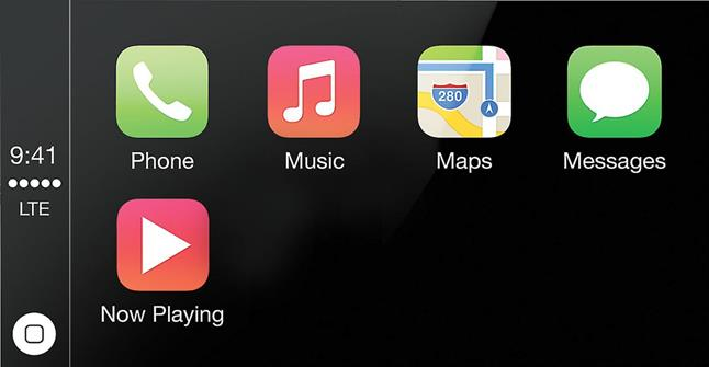 Apple CarPlay simulated screen image