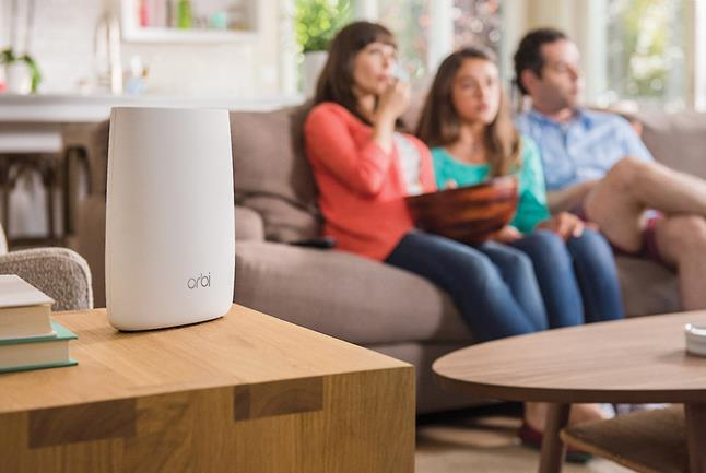 Put the Orbi satellite booster in the living room for glitch-free movie streaming