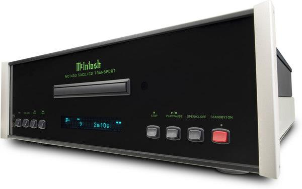 McIntosh MCT450 cd sacd transport angled front view