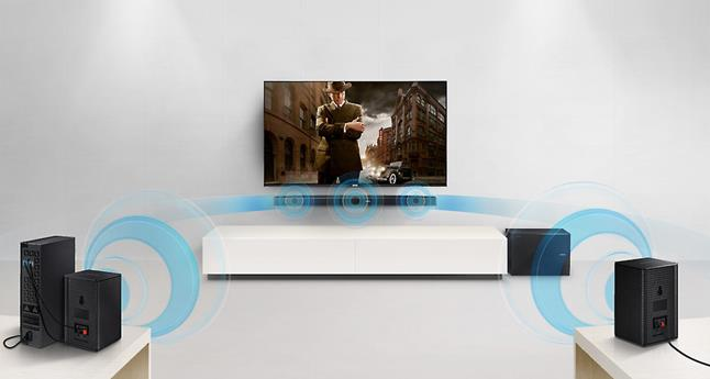 Samsung HW-MS650 with optional wireless sub and surround speakers