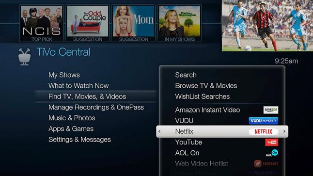 TiVo BOLT screen shot