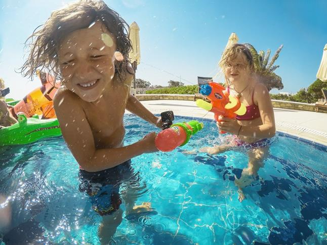 The GoPro HERO5 Session is tough enough to survive a pool day with the kids.
